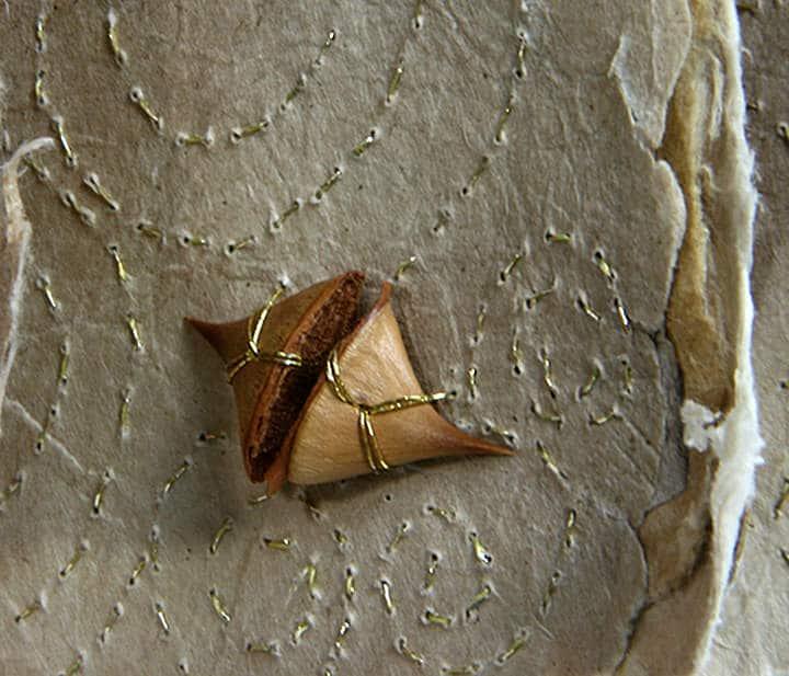 Close up of Susan's work