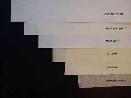 new papers, new fine art papers, washi, washi paper